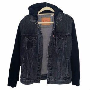Levi's Hooded Trucker Jacket Size M Sweater